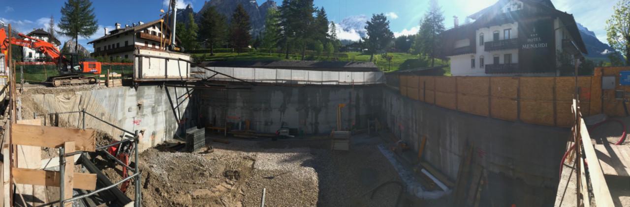 Progetto di ristrutturazione dell'Hotel Myriam a Cortina